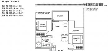 new buangkok condo sengkang grand residences floor plan