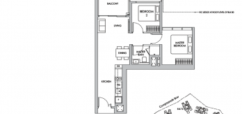 new sengkang grand residences condo layout for 2-bedroom