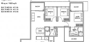 new seng kang central condo floor plan