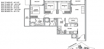 new buangkok condo sengkang grand residences 3-bedroom layout