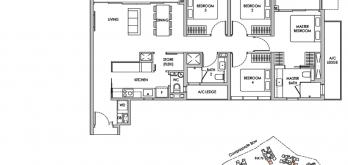 new sengkang condo floor plan 4-bedroom